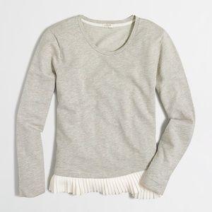 J. Crew Ruffle-hem Sweatshirt